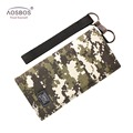 Aosbos Camo Long Unisex Wallet Canvas Printing Purses Slim Multi-card Holders Photo Geometric Clutch Bags for Men and Women