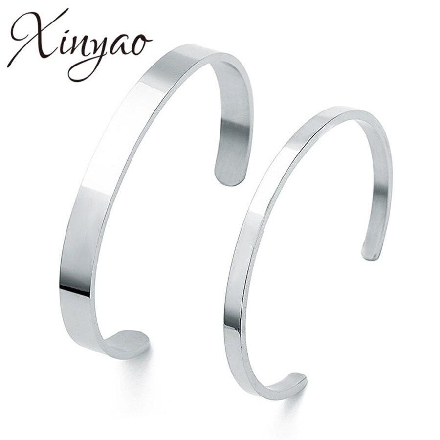 864749c44c45 ... en blanco brazalete pulsera brazaletes para mujer de plata de los  hombres de acero inoxidable de Color brazalete de brazalete abierto vikingo  joyas