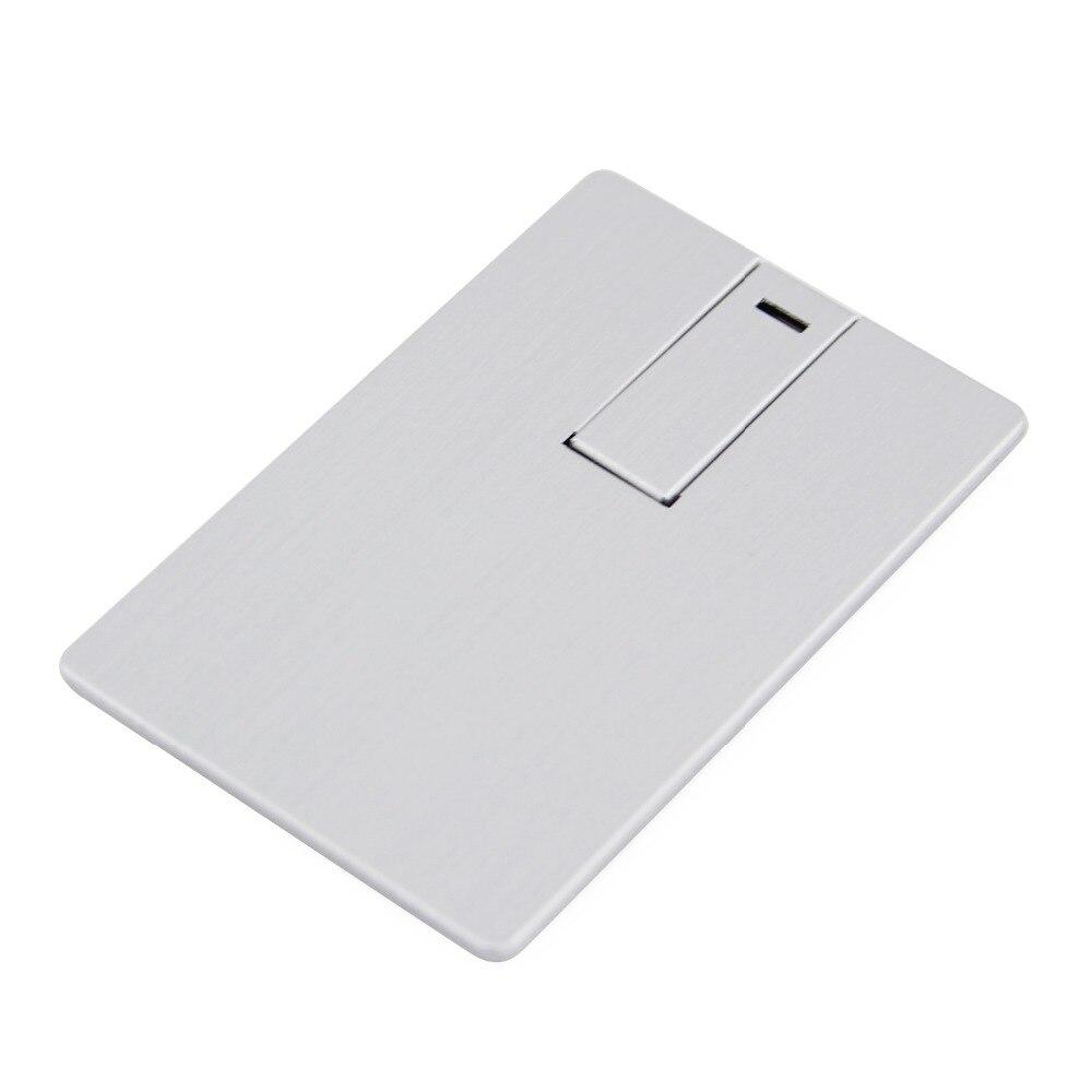 5pcs/lots USB 3.0 Flash Drive 8GB 16GB 32GB Metal Silver Credit Card Bank Card Shape Pendrive Memory Stick Pen Thumb Drive Gift keychain usb 2 0 flash drive silver 32gb