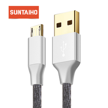 Gold-plated Micro USB Cable,Suntaiho Nylon Fast Charging Android USB Charger Date Cable 1M/2M/3M For Samsung/Xiaomi /LG/HTC