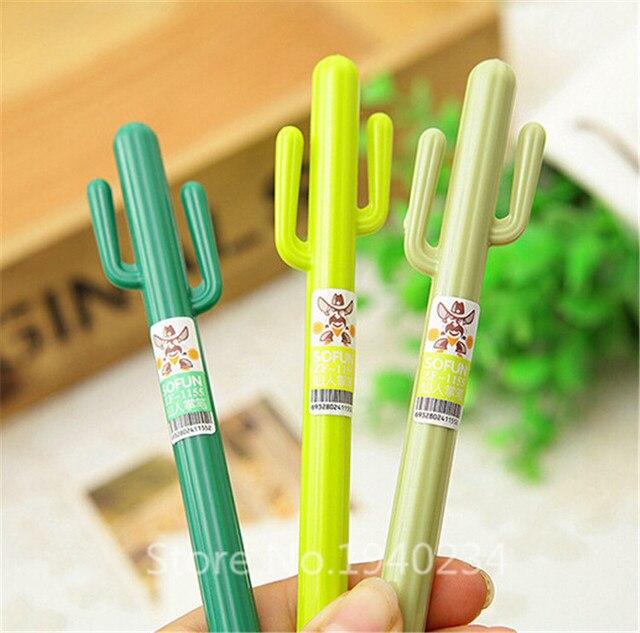 20 pc/lote New Cactus Creative mignon stylo Gel de conception / de bureau et scolaires / cadeaux mode 5PJJ154