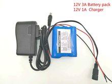 12 V 2600 mAh 18650 Li-ion batterie Rechargeable pour caméra de vidéosurveillance 2.6A Batteries + chargeur 12.6V 1A