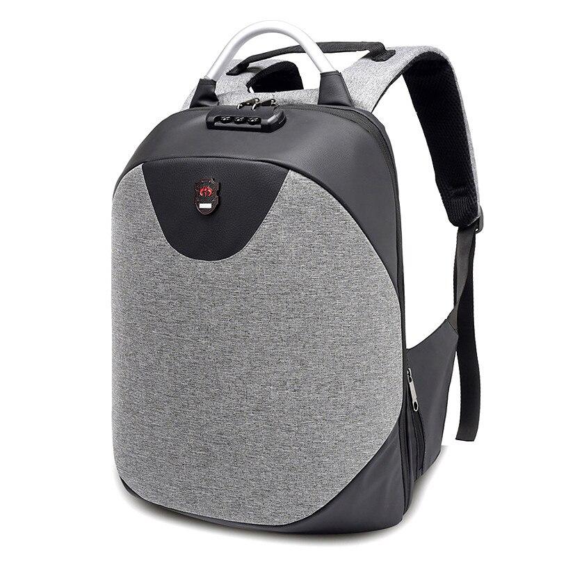 2019 new Laptop Backpack For Men Business TSA Lock Waterproof Backpacks USB Charging Large Capacity Bag Casual Travel Backpack цена 2017