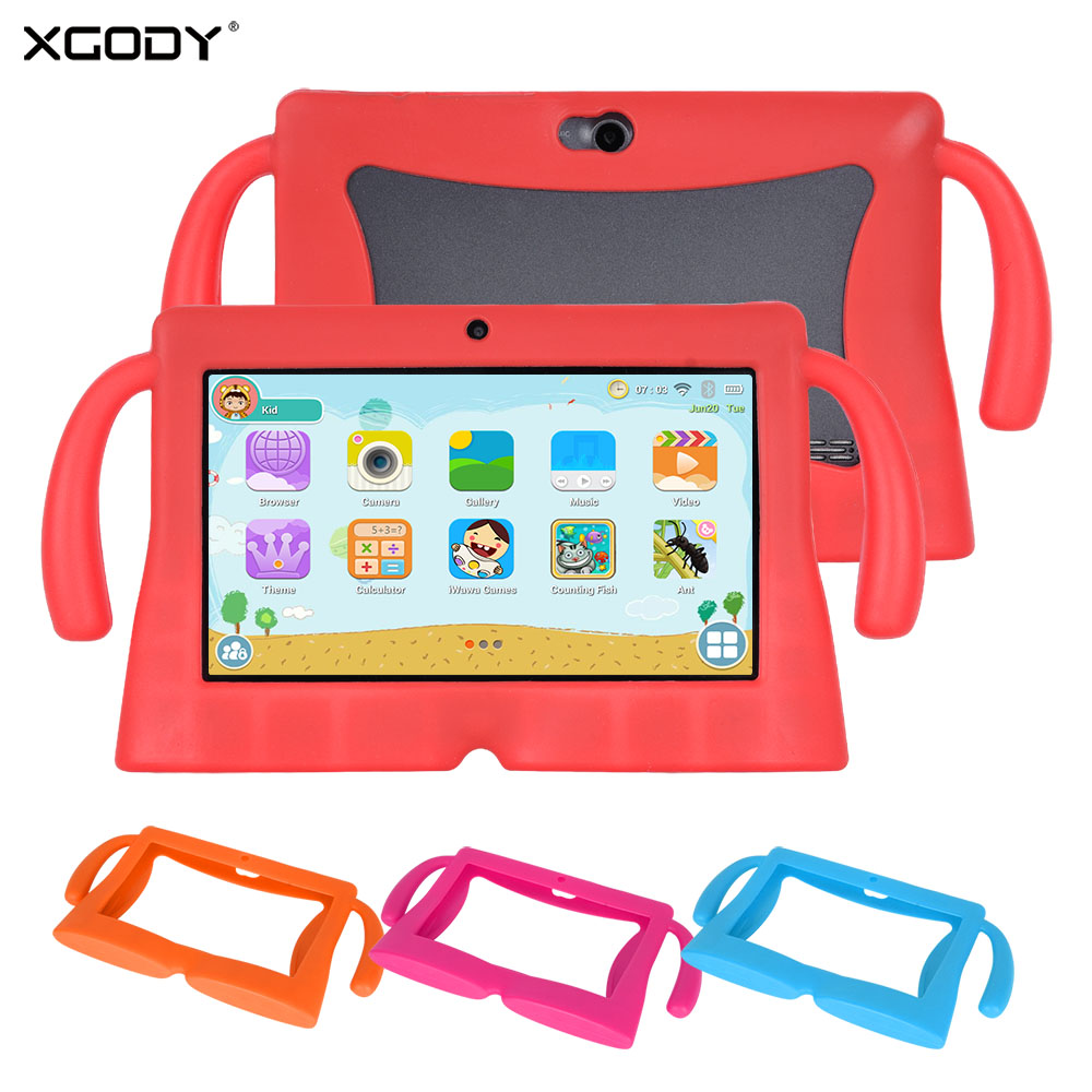 XGODY 7 inch Children Educational Tablet PC With Handle Case Cover Android 8.1 1GB 8GB HD Entertainment Screen Tablet XGODY 7 inch Children Educational Tablet PC With Handle Case Cover Android 8.1 1GB 8GB HD Entertainment Screen Tablet