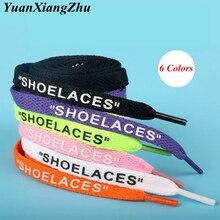 Мода письмо печать шнурки плетеный плоский обувь кружево кроссовки личностью длина шнурков 120 пара/150см 1