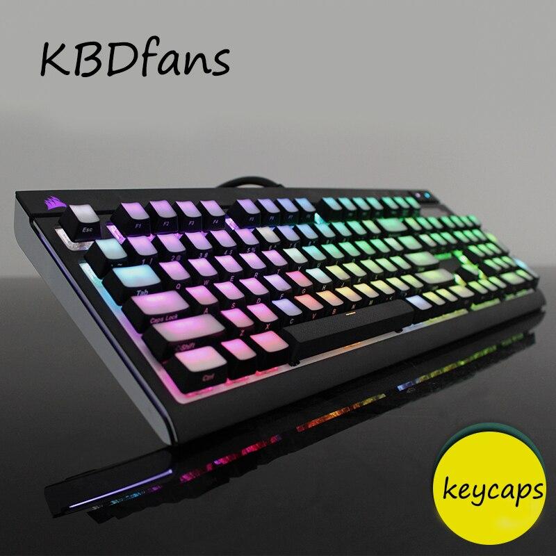 Front/Side Printed Backlit Keycaps 104/87 ISO ANSI layout Translucidus Backlit abs Keycaps For Corsair K65 K70 Logitech G710 logitech g710