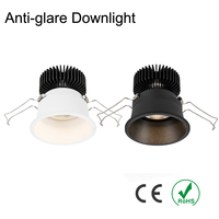 Recessed LED Dimmable Downlight 6W 9W 12W COB LED Spot light LED decoration Ceiling Lamp AC 110V 220V downlights