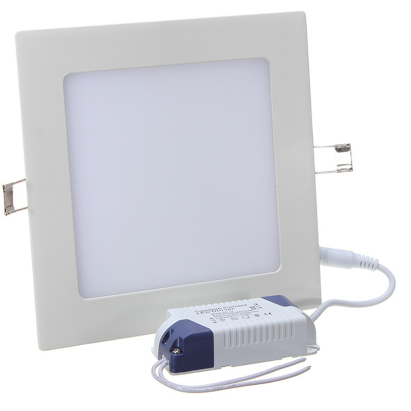 Ultra Thin Square LED Panel Light 3W 4W 6W 9W 12W 15W 25W Recessed Ceiling Lamp With Driver AC85-265V LED Indoor Down Light