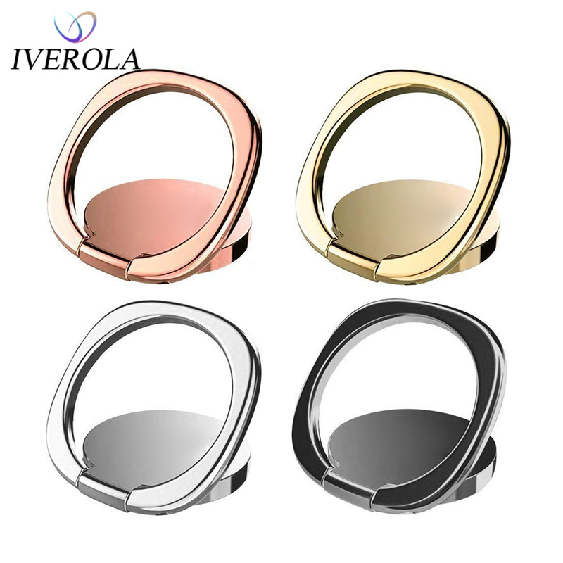 Univerola Universal Phone Finger Ring Holder Stand For IPhone X 8 Plus Samsung 180 Degree Smartphone Cell Phone Ring Holder