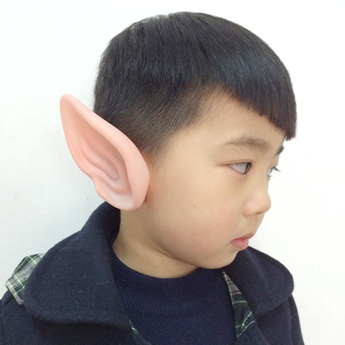 1 Pair PVC Fairy Pixie Fake Elf Ears Halloween Mask New Party Mask Scary Halloween Decoration Soft Pointed Prosthetic Ears 10c 2