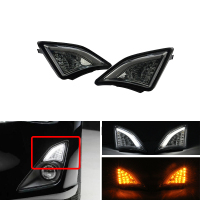Bright Smoke For Subaru BRZ Scion 2013~ GT86 Scion FR S Led 3D Corner Lamp Turn Signal Front Bumper Corner Lights Car Styling