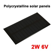 2W 6V Solar Generator Solar Light Solar Panel Portable Small Power System Solar Charger Pane Charging Waterproof