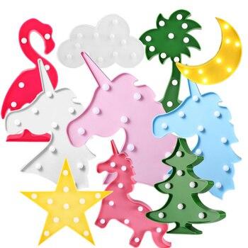 Moon Cactus Cloud Night Light 3D Luminaria Unicorn Star Led Lamp Nightlight Marquee Letter Gift Toys Bedroom Decor For Kids Baby 電動 鼻水 吸引 器 メルシー ポット