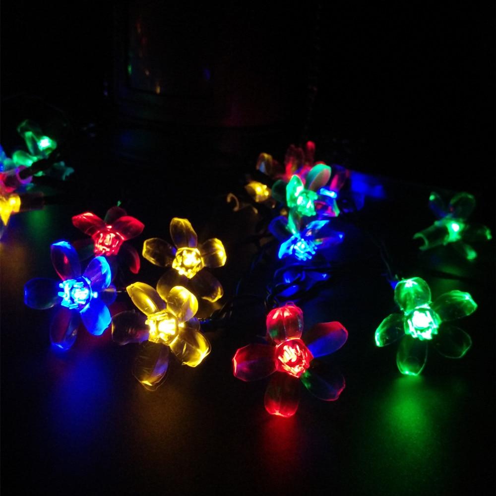 Solar Lamp For Garden Led Cherry Blossom Tree Light LED String Fairy Lights S