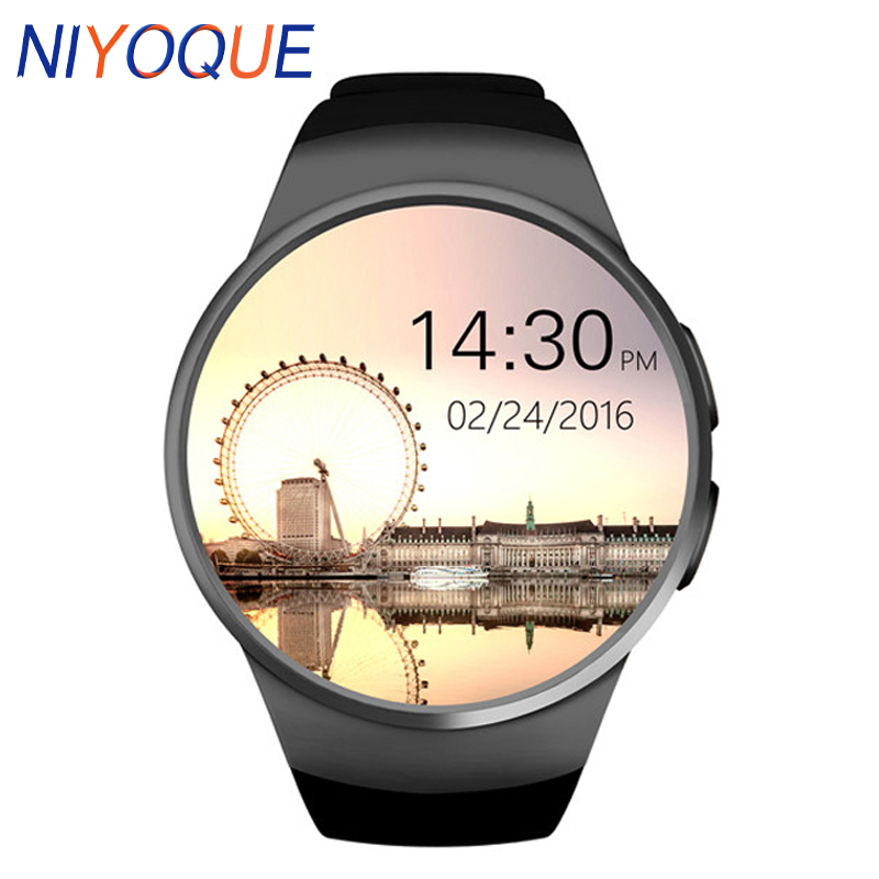 NIYOQUE KW18 Smartwatch Heart Rate Monitor Smart Watch For Apple Samsung Android Pedometer health full round MTK2502C NIYOQUE KW18 Smartwatch Heart Rate Monitor Smart Watch For Apple Samsung Android Pedometer health full round MTK2502C