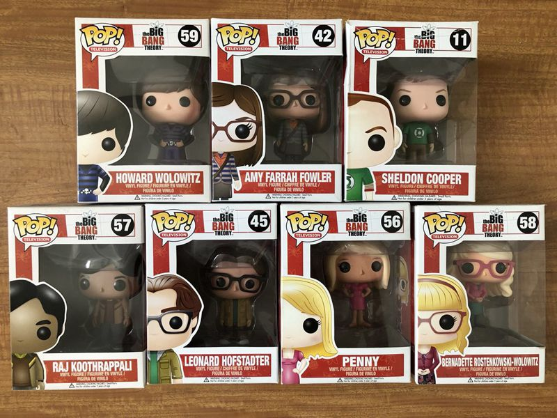 7pcs/set Exclusive FUNKO POP Official Movies: The Big Bang Theory Vinyl Action Figure Collectible Model Toy with Original Box official funko pop marvel x men logan wolverine vinyl action figure collectible model toy with original box