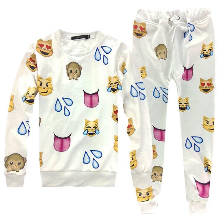 New Fashion Joggers expression Pants Women Men Casual Boutique 3d Print Jogger Pants Sweatpants Funny Hip-hop Couple sets ...