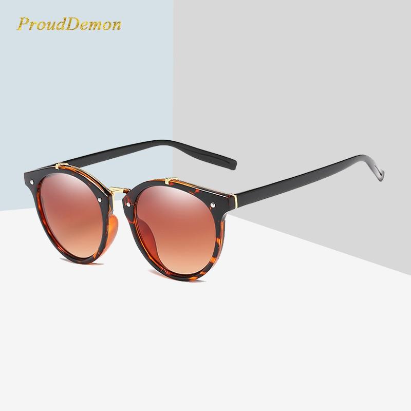 2018 Vintage Round Rivet Sunglasses Wanita Brand Designer Eyewear - Aksesori pakaian
