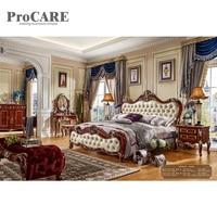 2018 luxury king size modern leather bed frame bedroom furniture beds 6018