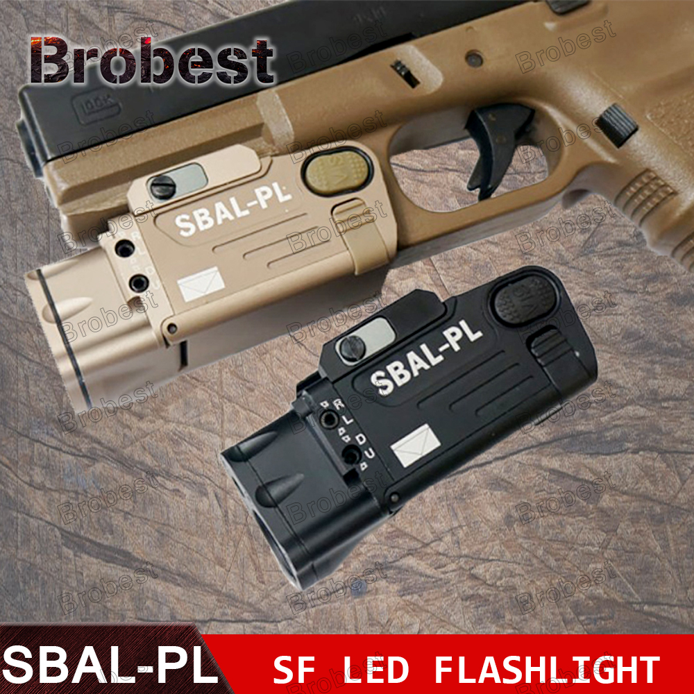 Tactical Laser Flashlight SBAL-PL Hunting Weapon Light Combo Red Laser Pistol Constant & Strobe Gun Light Picatinny Rail night evolution wmx200 tactical gun light led flashlight strobe remote tail switch ir light for picatinny rail spotlight hunting