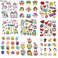 Prajna Iron On Heat Transfer Vinyl Kids Thermal Transfer Patch Badge Iron On Transfers For Baby Clothes Stickers Printable Decal(China)