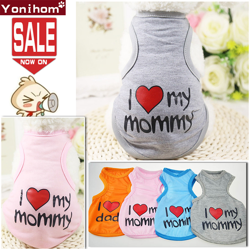 Cheap Small Dog Clothes Summer Spring T Shirt Vest Lovely Pet Cat for Dogs Tshirt Chihuahua