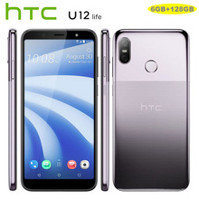Оригинальный htc U12 жизнь LTE мобильный телефон Android 8,1 Snapdragon 636 Octa Core 6 ГБ Оперативная память 128 Гб Встроенная память 16MP двойной Камера 6-дюймовый смартфон