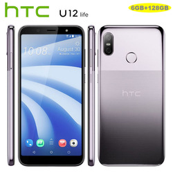 Original HTC U12 Life LTE Mobile Phone Android 8.1 Snapdragon 636 Octa Core 6GB RAM 128GB ROM 16MP Dual Camera 6 inch Smartphone