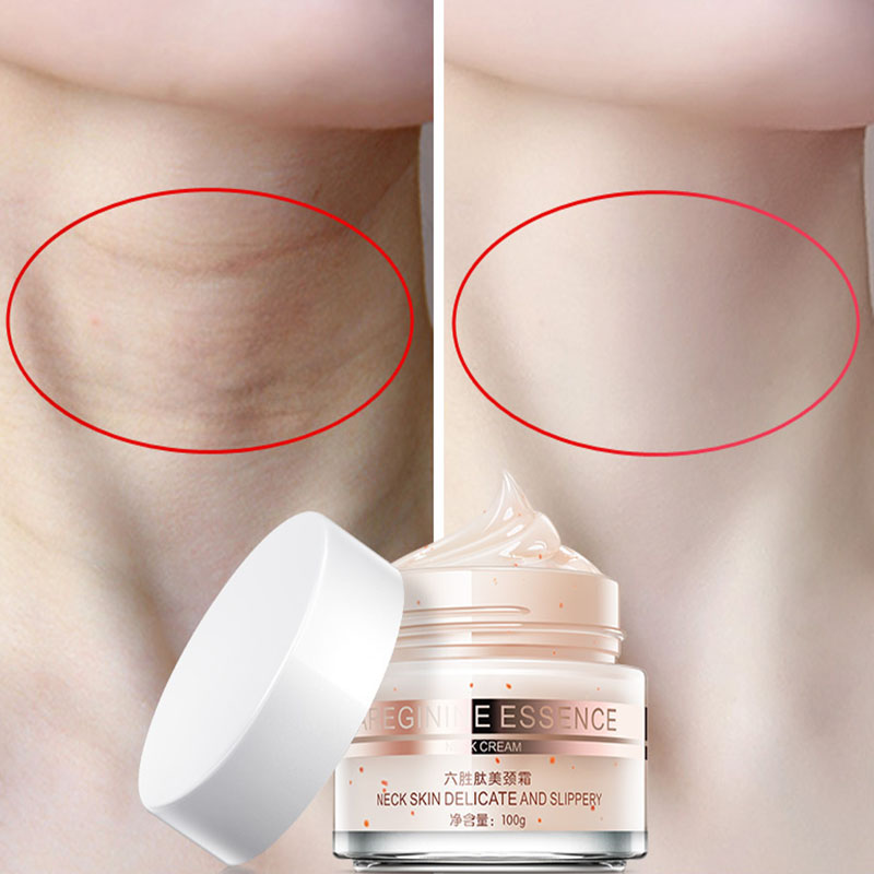 Daralis cuello Crema de cuidado de la piel Anti-arrugas blanqueamiento hidratante reafirmante cuello salud cuello piel delicada y resbaladiza