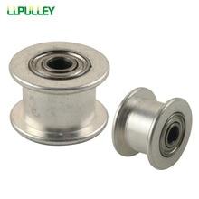 Lupulley 2pcs 16 Teeth 2GT Idler Pulley Bore 3mm Passive Pulley 16T Without/No Teeth GT2 Idle Pulley For Width 6mm GT2 Belt