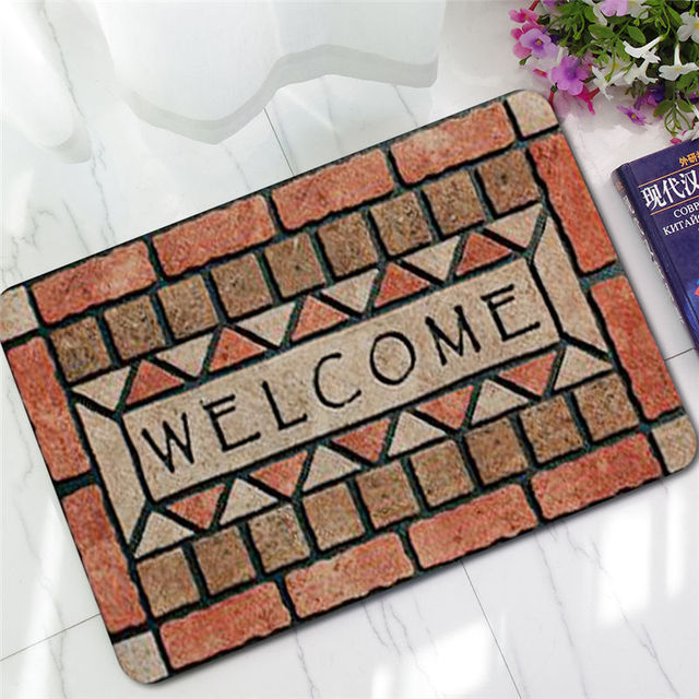 5D Cobblestone Printing Doormat Non Slip Rubber Carpet Indoor And Outdoor Mats  Customizable Welcome Home
