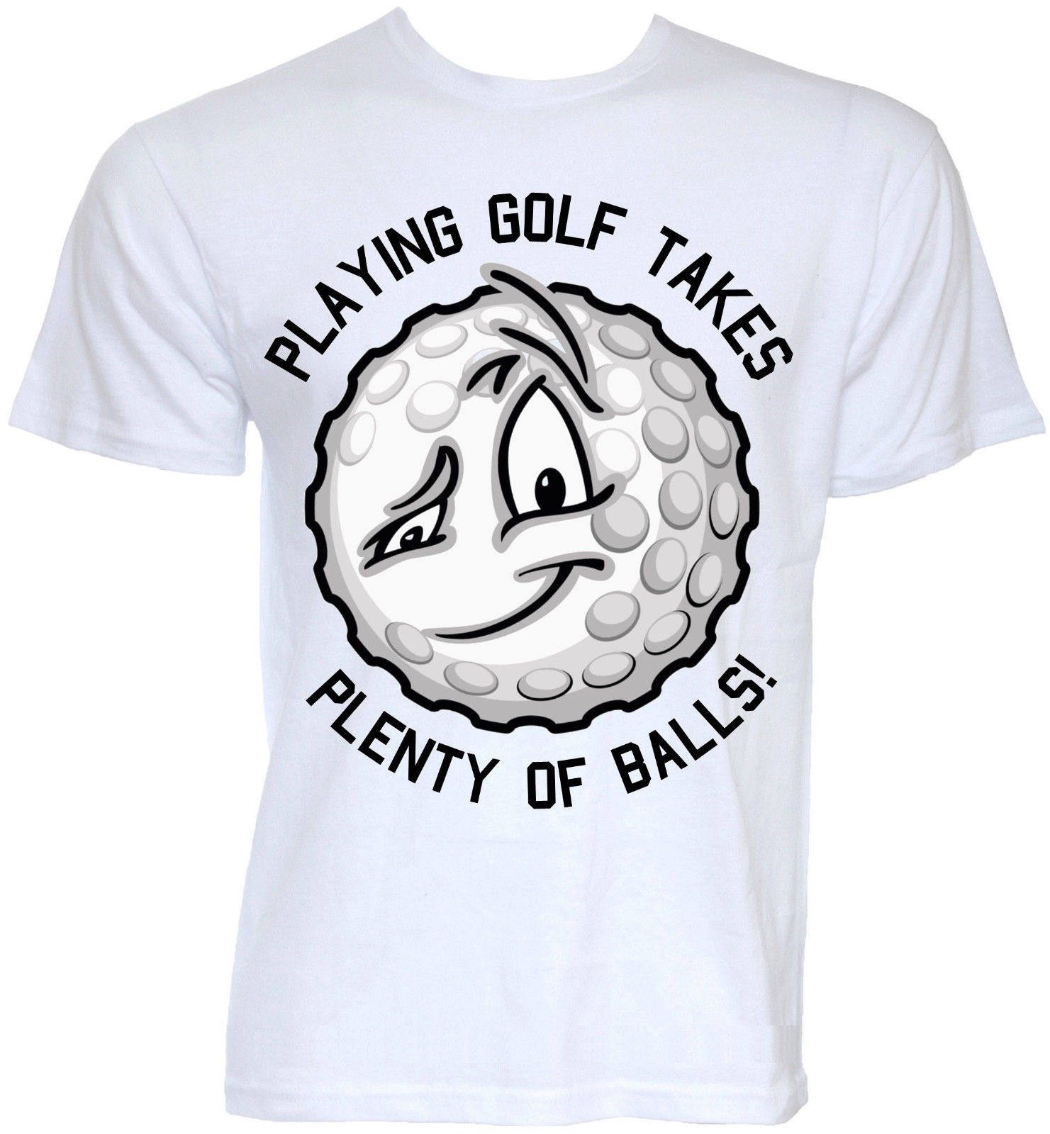 MENS FUNNY NOVELTY GOLFERBALL SLOGAN GOLFER GOLFING JOKE RUDE T-SHIRTS FUN GIFTS Short Sleeve Round Neck T Shirt Promotion
