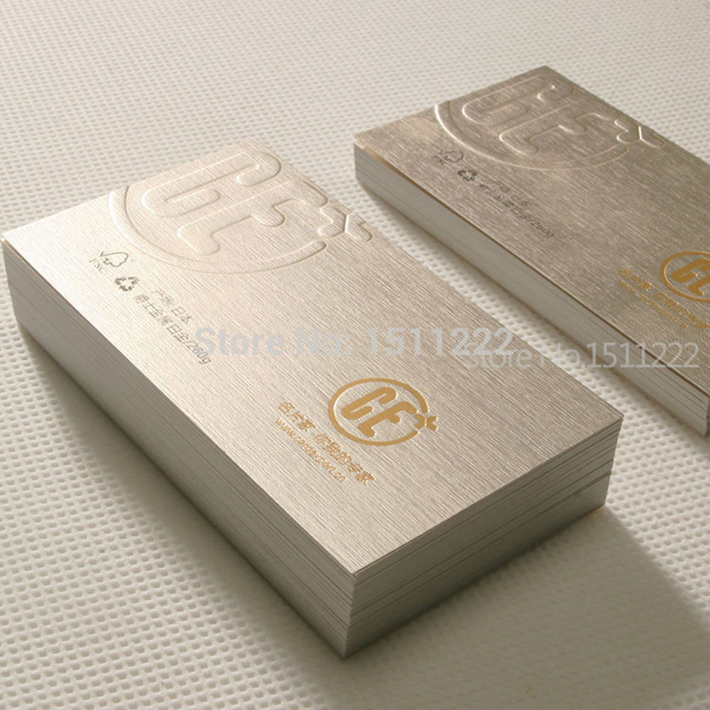 High end specialty paper custom business cards print Jazz metal ...