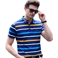 Men polo 2017 summer high quality men polo shirt business casual cotton striped solid polo shirt brand clothing polo for men