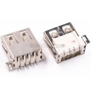 10PCS USB Typ A Standard Port Weibliche Solder Buchsen Stecker PCB Buchse USB-A typ SMT 4Pin