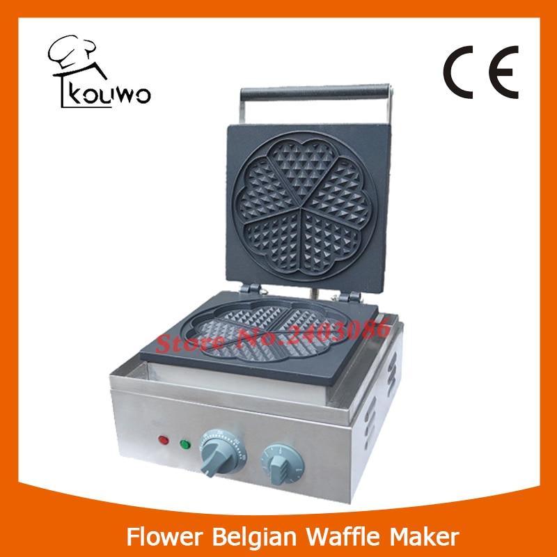 KOUWO  Hot Sale Waffle Baker Commercial Electric Countertop Flower Belgian Waffle Maker KW-215 hot sale 32pcs gas bean waffle maker