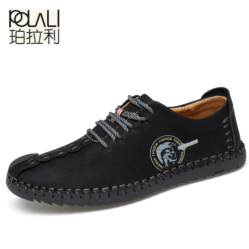 POLALI 2018 New Comfortable Casual Shoes Loafers Men Shoes Quality Split  Leather Shoes Men Flats Hot Sale Moccasins Shoes-in Men s Casual Shoes from  Shoes ... 8c21540eb086