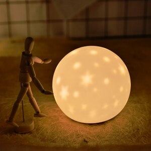 Image 5 - جديد LED ليلة ضوء النجوم العارض القط الدب USB قابلة للشحن سيليكون لينة الكرتون الطفل الحضانة مصباح للأطفال هدية