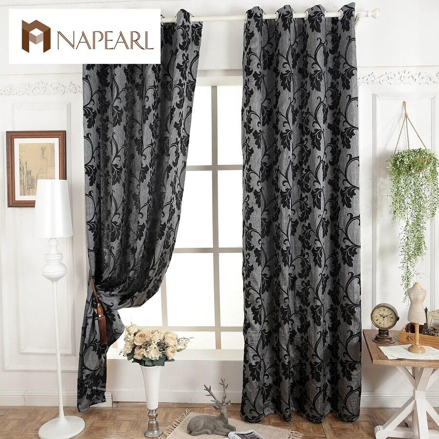 Dark gray curtains - Dark Grey Blinds Window Treatments Semi Blackout 3d Curtains For Living Room Modern Curtain Fabrics