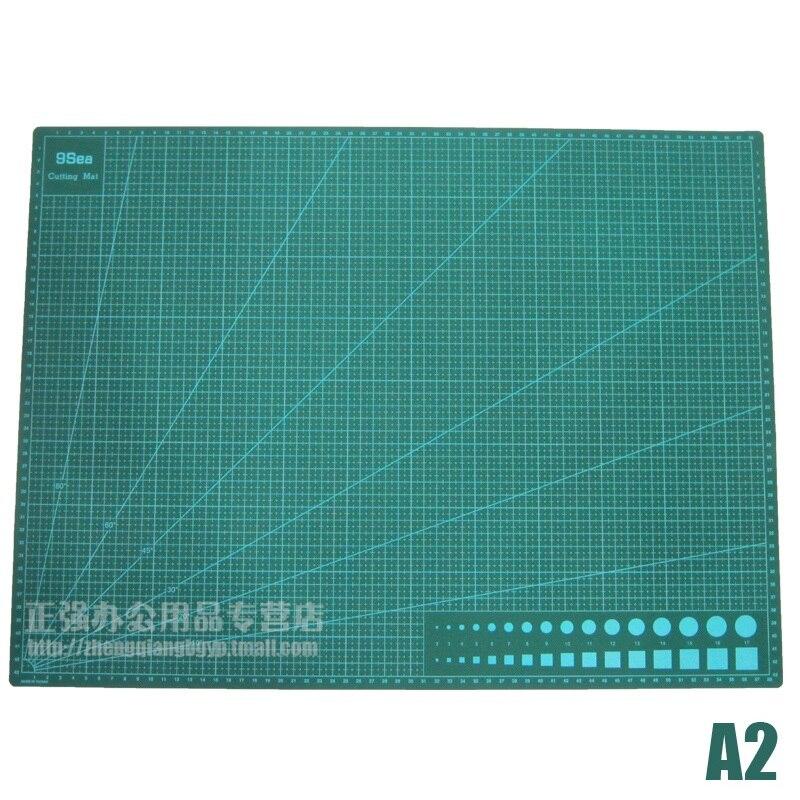 A2 Planche à Découper Mat Vert De Coupe Pad pour Scrapbooking, Quilting, à coudre et Arts et Artisanat Projets Tapete de Corte 60 cm x 45 cm