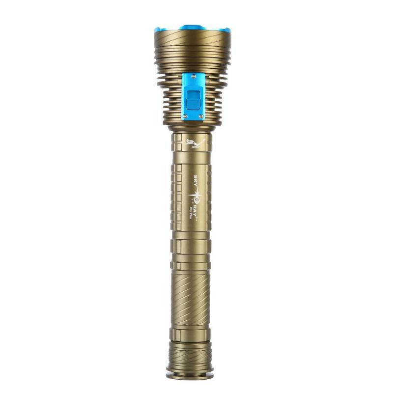 18000 Lumen Underwater 9x CREE XM-L2 LED Coated Glass Lens Scuba Diving Flashlight Torch цена