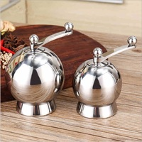 Spherical stainless steel spice grinder Pepper mill Manual grinder Manual mill Seasoning grinders