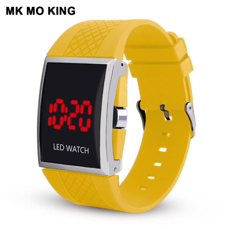 Mk Unique Sport Fitness Outdoor Gifts For Couple Men's Women's Ladies LED Digital Wrist Watch Lovers Clock Dw Mk Bracelet Reloj