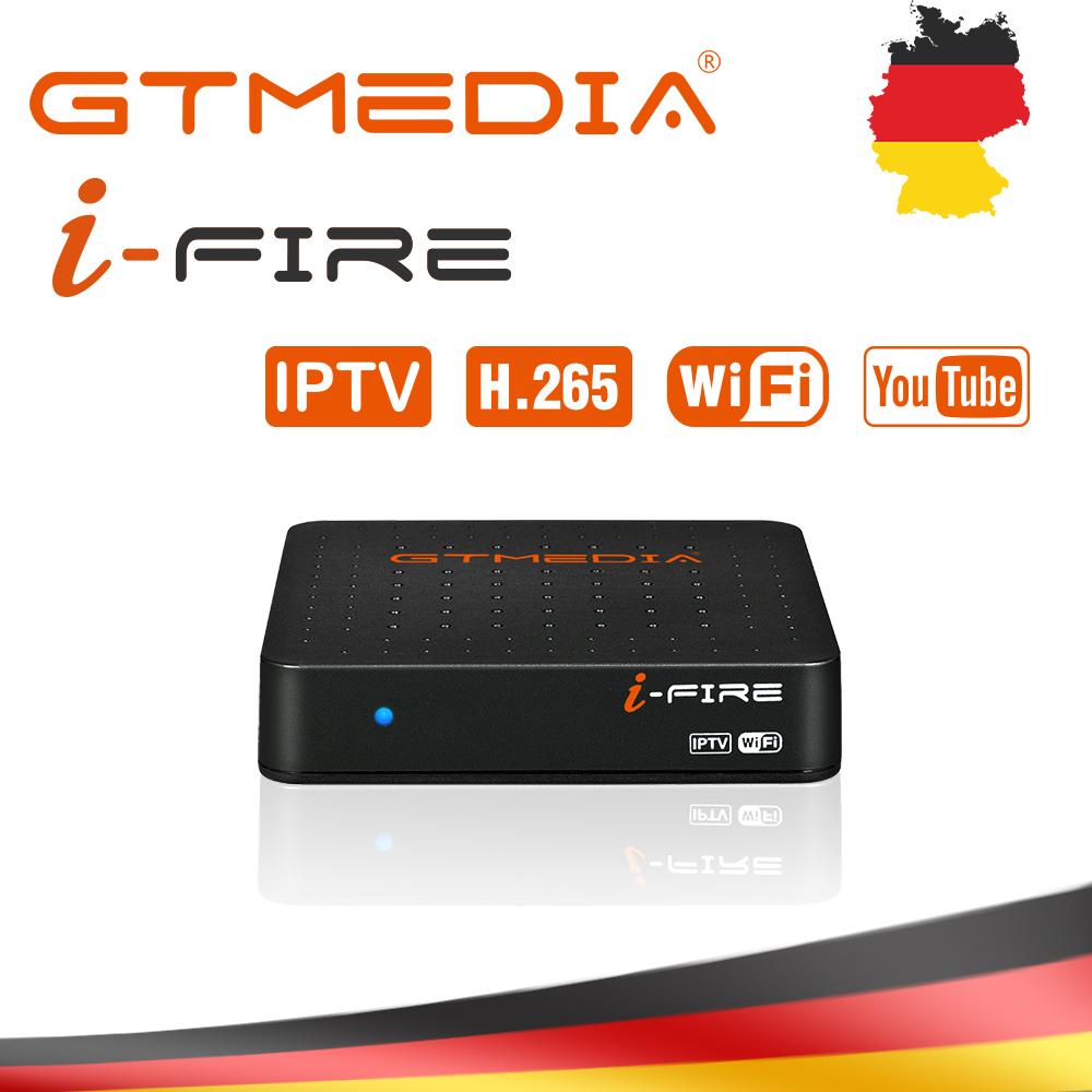 New Style GTMedia Ifire IPTV Box Digital Set Top Box TV Decoder FULL HD 1080P (H.265) Built-in WIFI Module Iptv Support Spain DE
