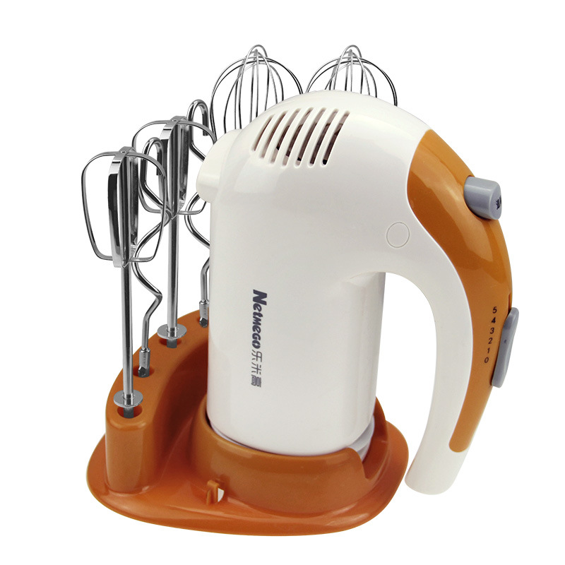 Latest base type handheld whisk electric blender mixer food machine egg stirring household with 6 tools
