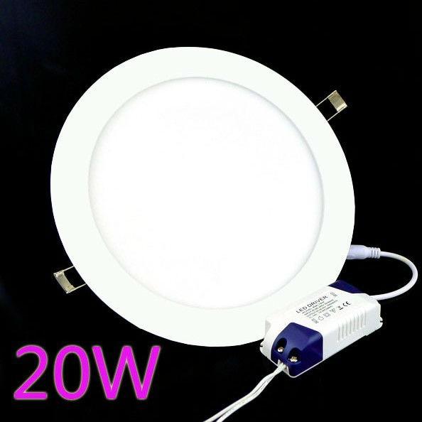 2pcs/Lot 20W Downlight Led Lamp Lights For Home Warm White Lighting  AC85V 265V