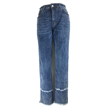 ME&SKI Jeans Women Denim Scratched Elastic Skinny Ripped Pants High Waist Trousers Casual Color Blue