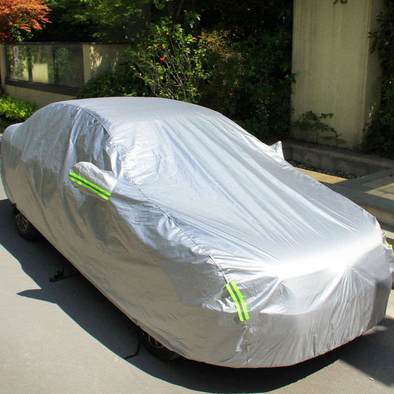 Car Cover for Mercedes-Benz C-Class W203 W204 W205 All Weather Full Car Covers Dustproof Scratch Resistant Outdoor Waterproof UV Protection Cover PEVA Yellow