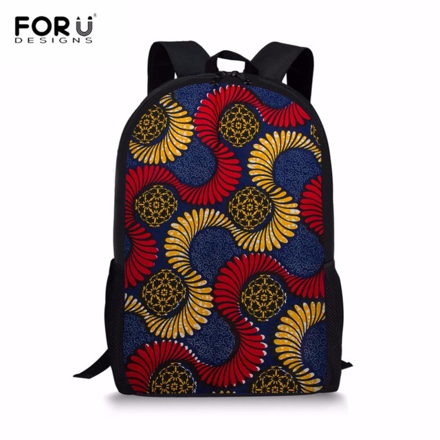 0370c60199c FORUDESIGNS Women Backpack African Traditional Printed Kids School Backpack  Student Primary Rucksack Girls Tribal Ethnic Mochila