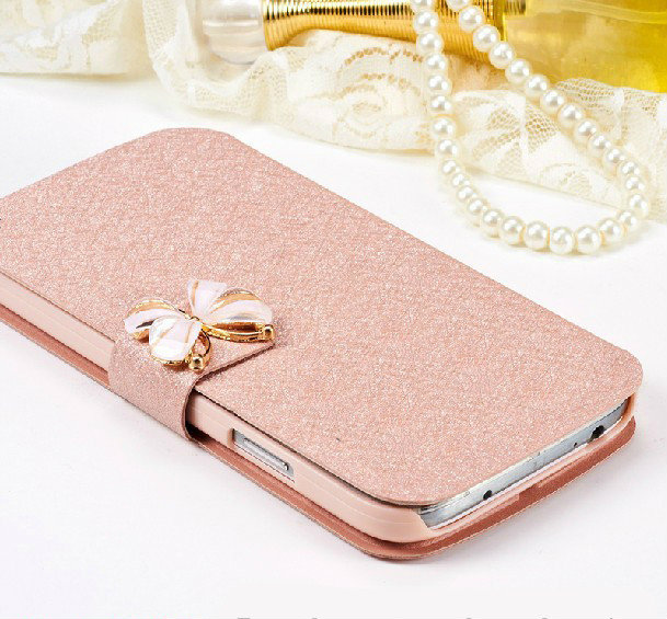 Luxury Fashion Butterfly Silk Pattern Flip PU Leather Phone Case For Alcatel OneTouch POP S7 7045A <font><b>7045Y</b></font> With Stand image